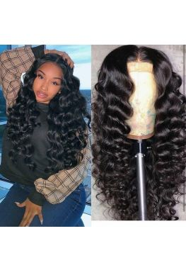 Brazilian virgin middle part natural wave 360 lace wig--hb20