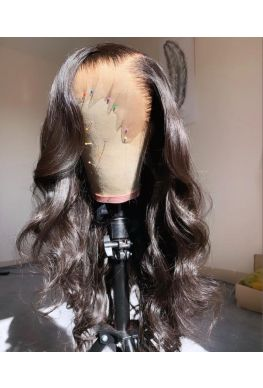 Natural looking wave pre plucked 360 wig brazilian virgin human hair--hb235