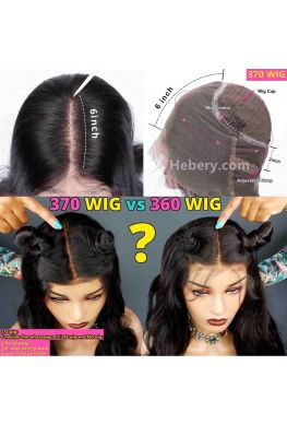 Silky straight 370 wig pre plucked Brazilian virgin human hair--hb370
