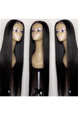 Natural straight 4x4 Lace closure wig Indian virgin human hair--hb454