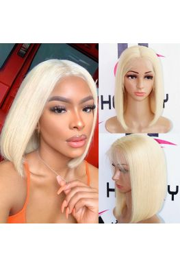 613 color silky straight bob lace front wig brazilian virgin human hair--hb913