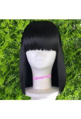 Bob Style with Bangs 13x6 Lace Front Wig Brazilian Virgin Human Hair--hb648