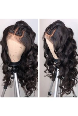 Pre plucked big wave 360 wig Brazilian virgin bleached knots--hb022