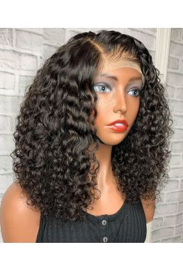 bomb Curls 360 wig unprocessed Brazilian virgin bleached knots baby hair--hb026