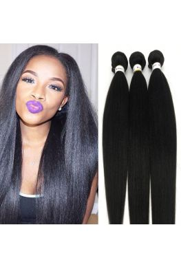 Brazilian Virgin Light Yaki Hair Weave 3 Bundles--hw02