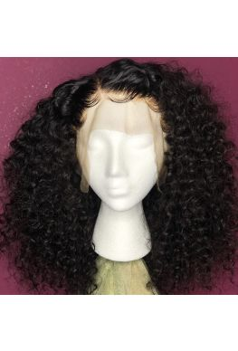 Pre plucked circle wave 360 wig Brazilian virgin bleached knots--hb025