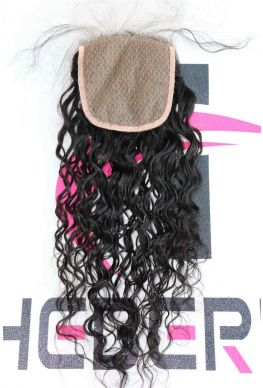 4X4 Silk Top closure Brazilian Virgin curly--ht666