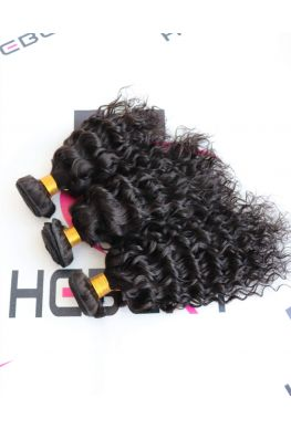3 bundles Brazilian Virgin curly Hair Weave wefts--hw07