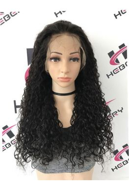 Deep curly 360 lace glueless wig brazilian virgin human hair--hb007