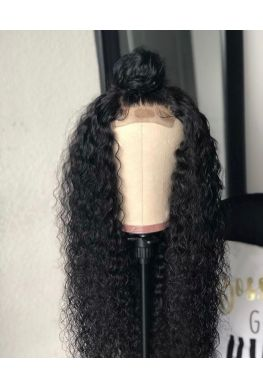 Deep curly 360 wig pre-plucked glueless wig brazilian virgin human hair--hb007