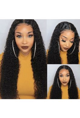 Deep curly Glueless Lace front wig--hb900