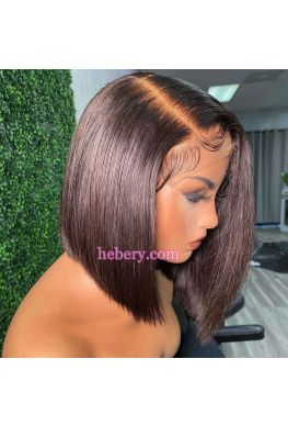 5x5 HD Lace Closure wig Side Part bob Style Brazilian virgin human hair--hd535