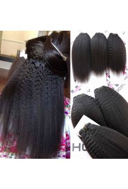 Brazilian Virgin Italian yaki Hair Weave 3 Bundles--hw03