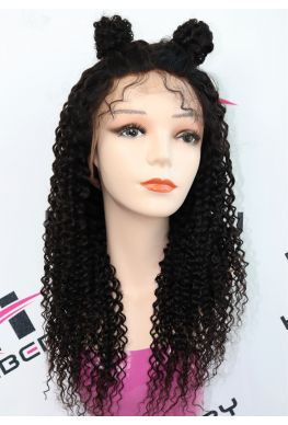Jerry curly 360 glueless wig Pre-plucked Brazilian virgin human hair--hb008