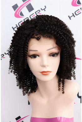 Kinky curl pre plucked 360 wig brazilian human hair--hb018