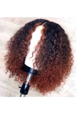 Kinky curly bob pre plucked 360 wig pic color unprocessed Brazilian virgin bleached knots baby hair--hb334