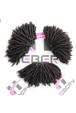 Afro kinky curly Brazilian Virgin Hair 3 Bundles--kinkycurlybundles