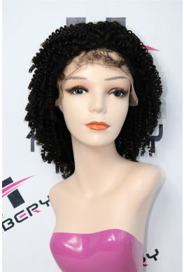 Kinky Curly glueless full lace wig brazilian virgin human hair--hb120