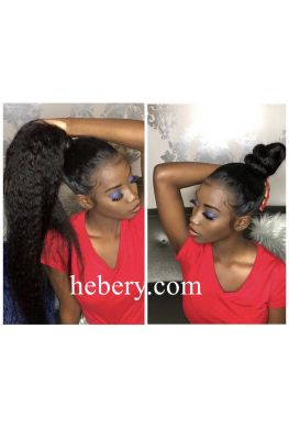Kinky straight full lace wig brazilian virgin human hair--hb989