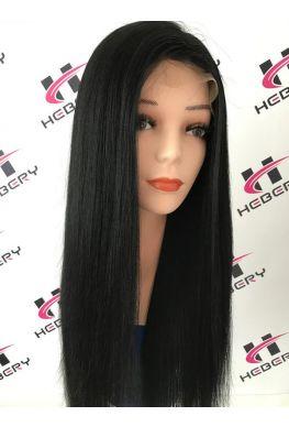 Light yaki 360 lace glueless wig brazilian virgin human hair--hb010