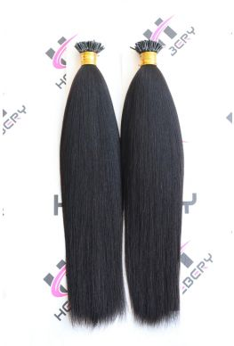 10A microlink i Tips hair extension light yaki Brazilian virgin human hair--htp03