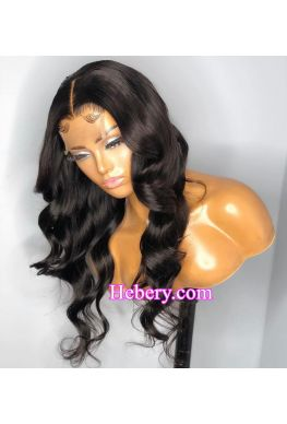 Loose wave 5x5 HD Lace Closure wig undetectable skin melt Glueless wig 10A Brazilian virgin human hair Pre plucked--hd559