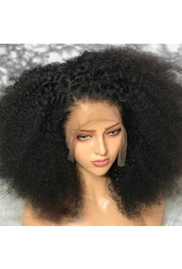 Messy curl 370 wig pre plucked Brazilian virgin human hair--hb378