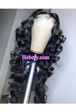 Natural wave 5x5 HD Lace Closure wig undetectable skin melt Glueless wig 10A Brazilian virgin Pre plucked--hd515