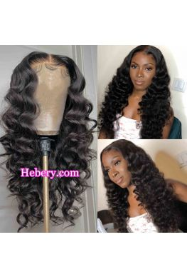 5x5 HD Lace Closure wig Natural wave undetectable skin melt Glueless wig 10A Brazilian virgin human hair Pre plucked--hd515