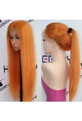 Orange color Glueless Lace front wig--hb901