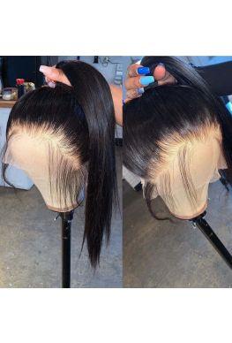 Pre plucked full lace wig silky straight Brazilian virgin human hair --hp888