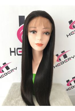 Silky straight 360 lace glueless wig brazilian virgin human hair--hb002