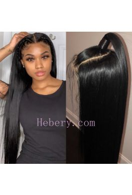 370 wig Silky straight pre plucked Brazilian virgin human hair--hb370