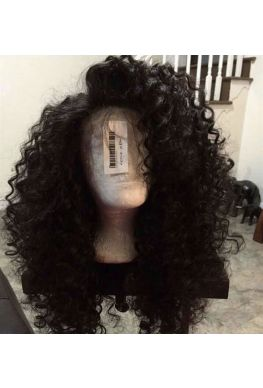 Spanish deep wave 360 wig unprocessed Brazilian virgin hair bleached knots baby hair--hb757