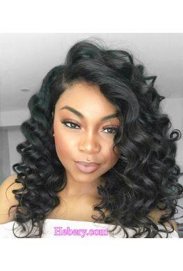 Pre plucked Spanish wave 360  wig Brazilian virgin human hair--hb325