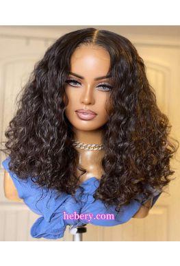 Summer Curl Bob 5x5 HD Lace Closure Wig undetectable skin melt 10A Brazilian virgin human hair Pre plucked--hd527