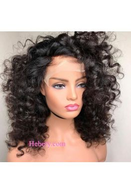 5x5 HD Lace Closure wig undetectable skin melt Glueless wig pineapple curly 10A Brazilian virgin human hair Pre plucked--hd554