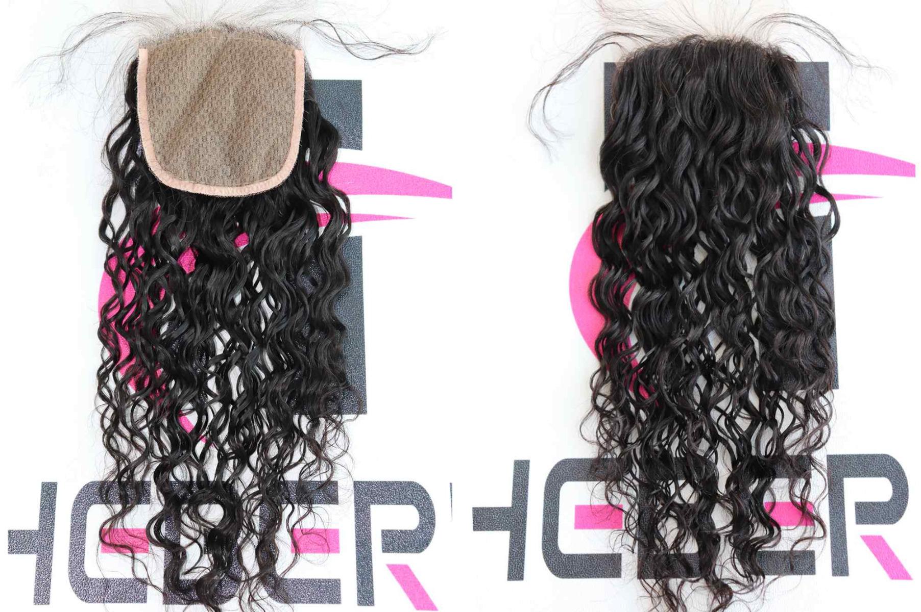 curly silk top closure